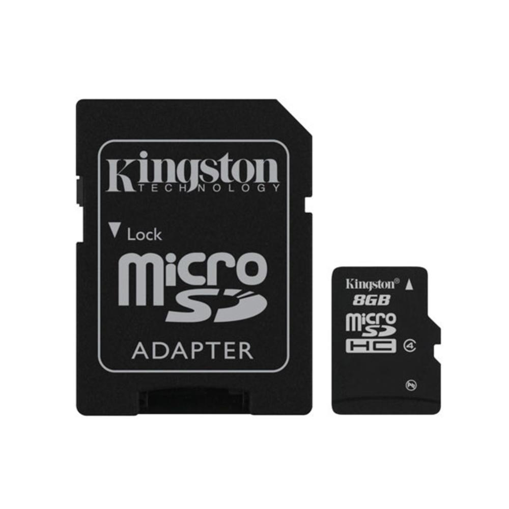 Κάρτα Μνήμης Kingston Micro SDHC 8GB Class 4 + Adapter
