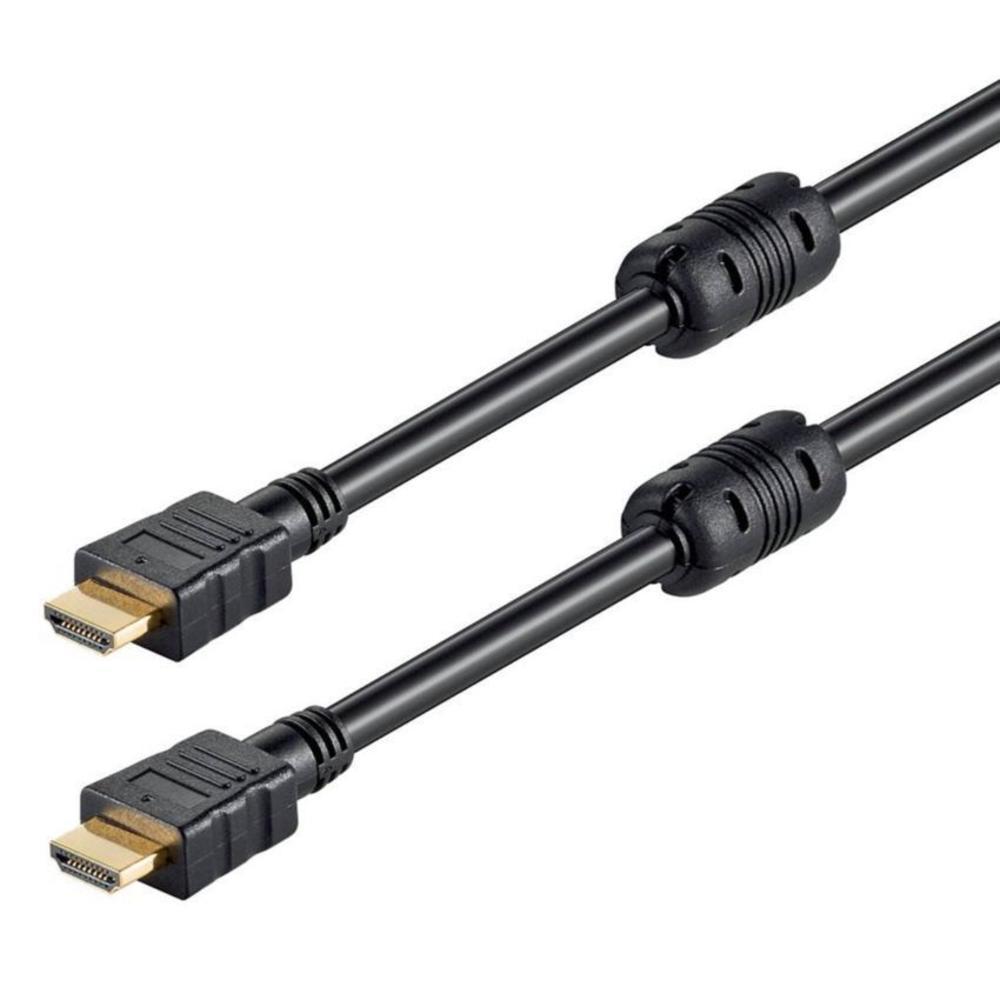 POWERTECH Καλώδιο HDMI 19pin (Μ), 2x ferrites, CCS, με Ethernet, 0.5m