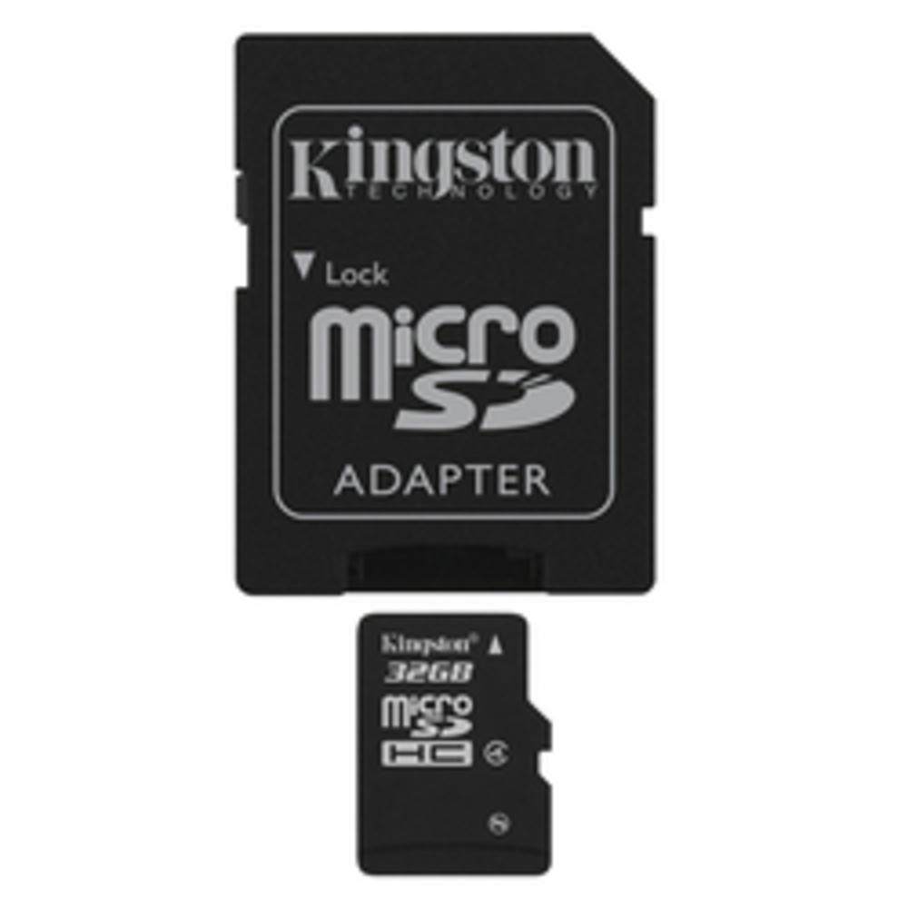Κάρτα Μνήμης Kingston Micro SDHC 32GB Class 4 + Adapter