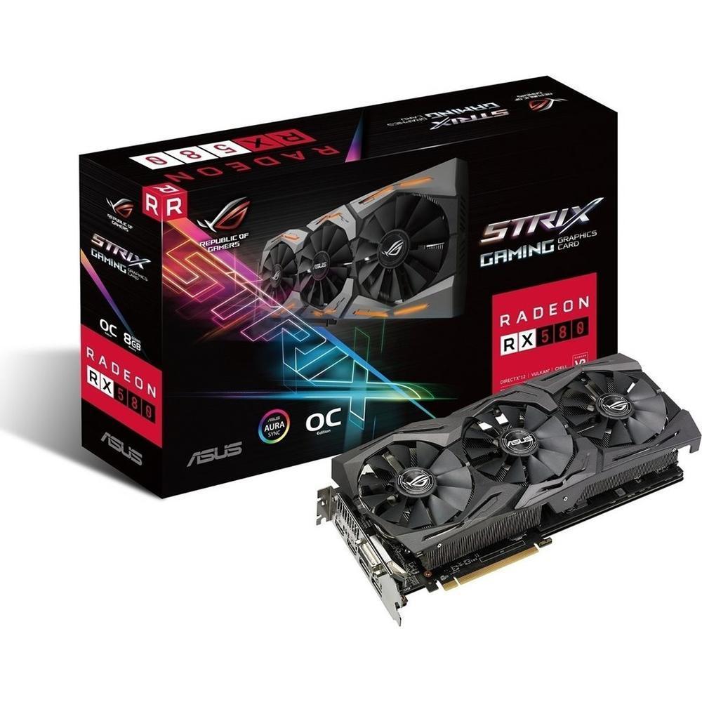 Κάρτα Γραφικών (VGA) AMD Asus Rog Strix RX 580 Gaming OC