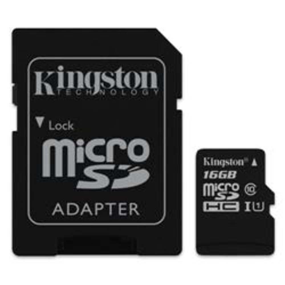 Κάρτα Μνήμης Kingston Micro SDXC 16GB Canvas Select Class 10 + adapter