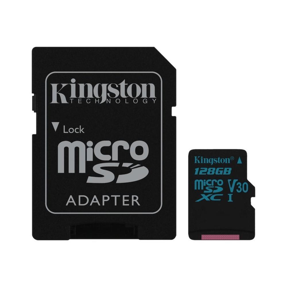 Κάρτα Μνήμης Kingston microSDHC Canvas Go U3 UHS-I V30 128GB Card + SD Adapter